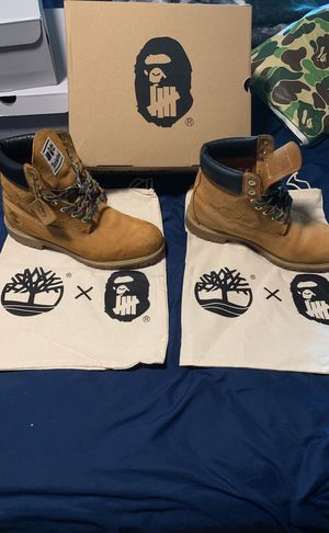 Timberland x bape x undefeated for Sale in Portland, OR