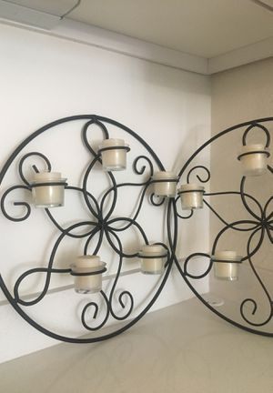 Steel wall decoration with candles for Sale in Scottsdale, AZ