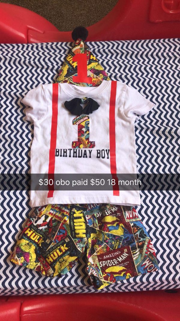 Baby Boy Birthday Outfit 18 Months For Sale In Fresno CA