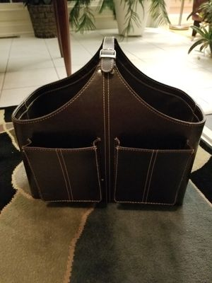 Leather magazine baskets for Sale in Gaithersburg, MD