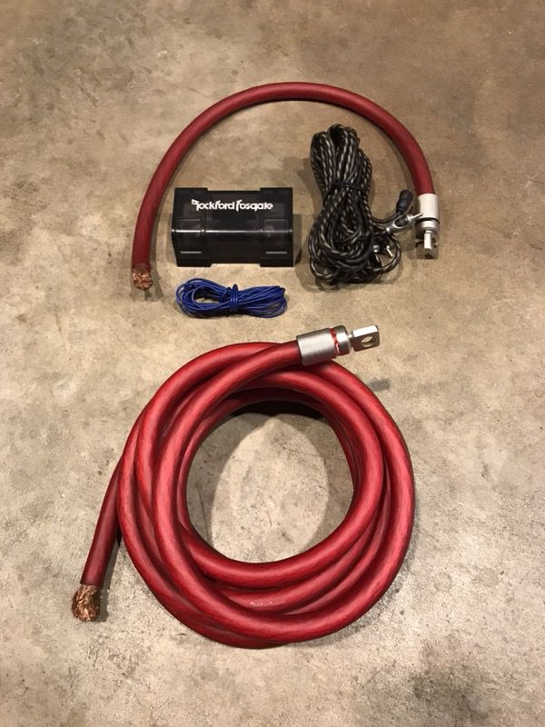 Super Rockford Fosgate Amp Wiring Kit Rfk1 1 0 Gauge For Sale In Corona Wiring 101 Capemaxxcnl