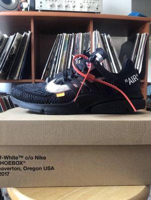 Nike Presto Off White Black size 10 for Sale in Pineville, NC