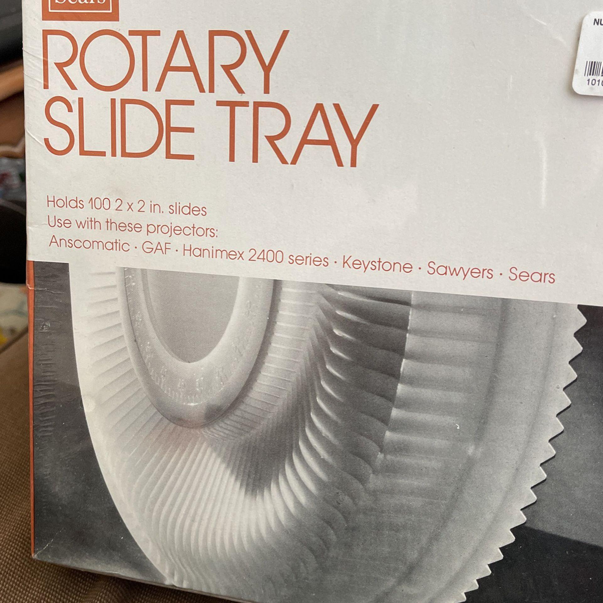 Vintage *NEW*ROTARY SLIDE TRAY-Holds 100 (2x2) Slides