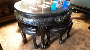 Photo Antique Asian coffee table with Pearl inlays good condition asking 800 negotiable
