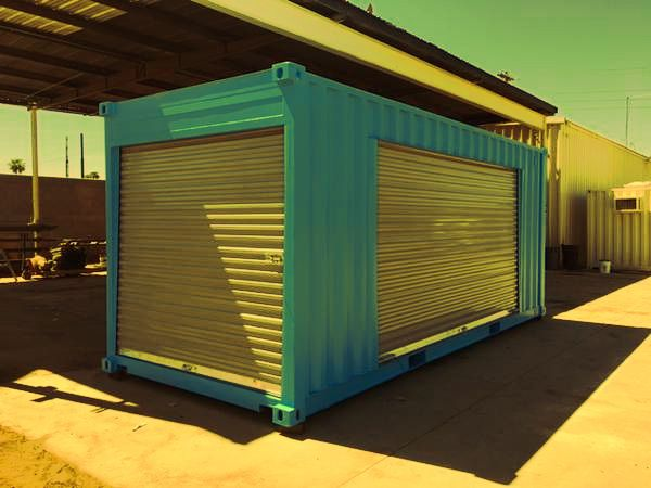 Custom Designed Shipping Container! 2 Roll Up Doors! for ...