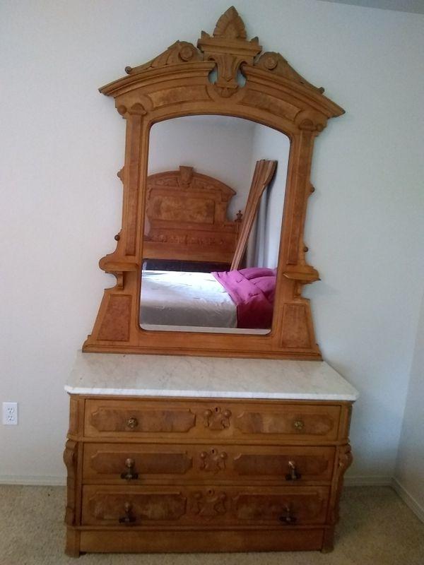 antique furniture1800 39 s full bedroom set for sale in olympia wa offerup. Black Bedroom Furniture Sets. Home Design Ideas