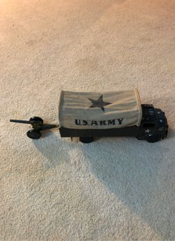 U s army toy truck with cannon Thumbnail