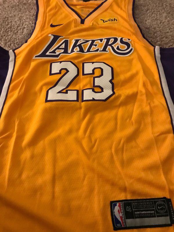 10c952d45 Men s Los Angeles Lakers Lebron James Nike Gold 2018 19 Swingman Jersey  LARGE