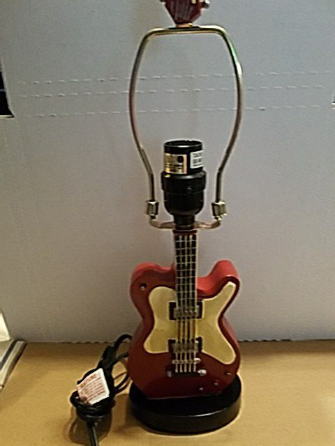 17 guitar lamp base works no lamp shade included musical 17 guitar lamp base works no lamp shade included musical instruments in east brunswick nj offerup aloadofball Images