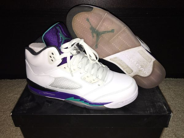 32b304c469e345 Nike Air Jordan Retro 5 Grape Size 7 Youth for Sale in Happy Valley