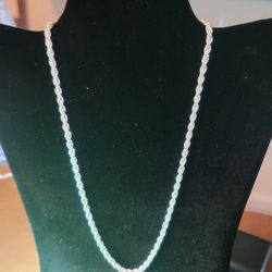 """925 Silver Rope/chain 4mm 20"""" Thumbnail"""