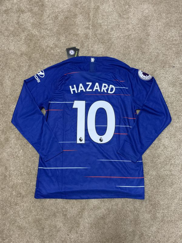 new concept a2c2e 8cb11 Chelsea Home Long Sleeve 18/19 Jersey HAZARD #10 MEDIUM for Sale in  Orlando, FL - OfferUp