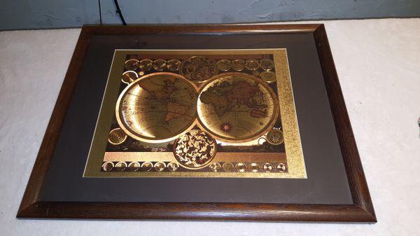 World Map By Peter Schenk The Elder.World Map By Peter Schenk The Elder 1645 1715 For Sale In Comstock