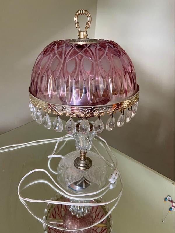 Vintage Pink Lamp