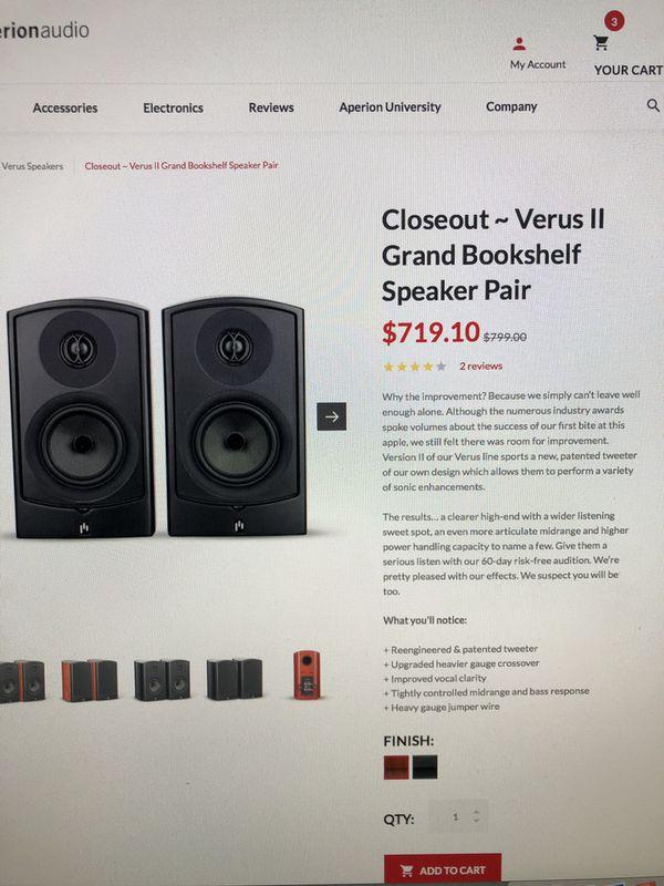 Home Audio System Aperion Verus III Grand Onkyo Receiver