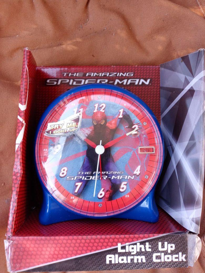 Kids spider man alarm clock