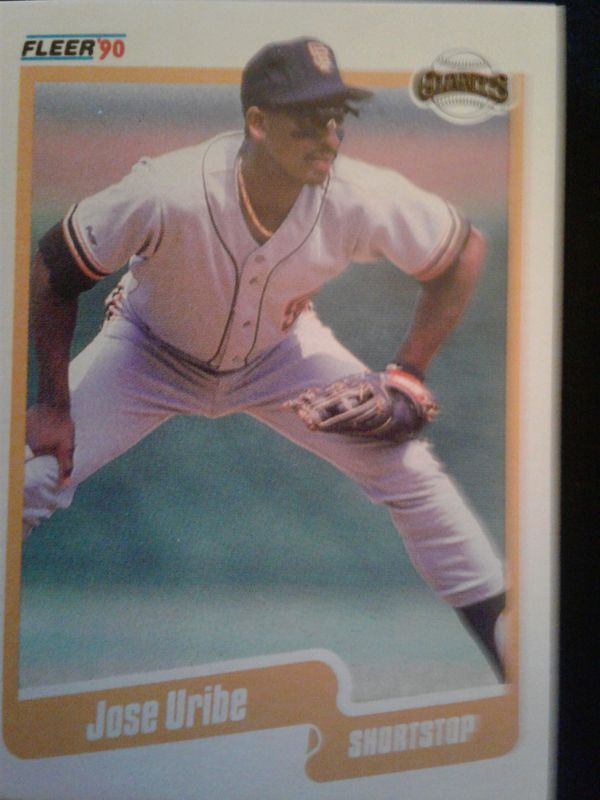 Very Rare 1990 Fleer Jose Uribe 74 Baseball Card For Sale In Covina Ca Offerup