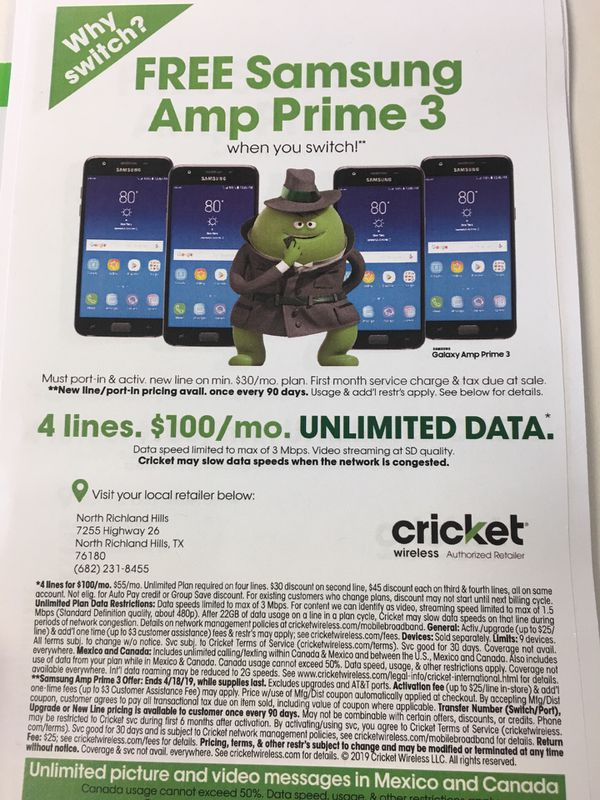 Cricket Wireless Free phones for Sale in Fort Worth, TX - OfferUp