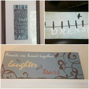 Inspirational Home Decor Wall Hangings-Set of 6 for Sale in Takoma Park, MD