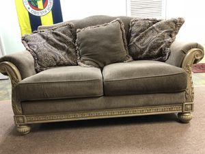 Signature Design By Ashley Parkington Bay Platinum Sofa 3 Pieces For