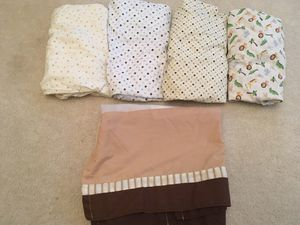 Crib Sheets and Dust Ruffle for Sale in Lovettsville, VA