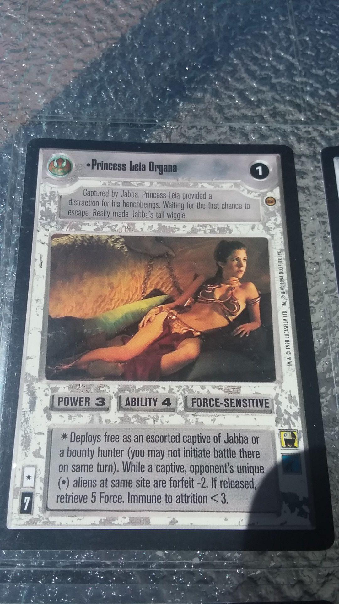1997 star wars game trading card ccg Princess Leia