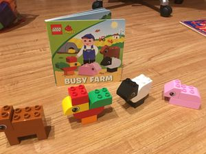 LEGO duplo Book + LEGO Set - busy farm animals for Sale in Hoffman Estates, IL