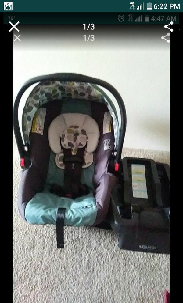 Greco Car Seat Baby Infants With Base 4 To 30 Lbs Excellent Condition 25 For Sale In Tampa FL