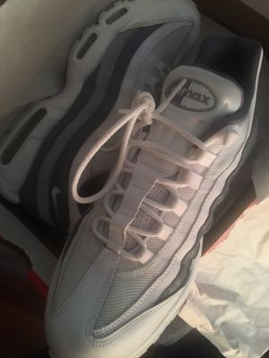 Air max 95 size 11 white and gray for Sale in Washington, DC