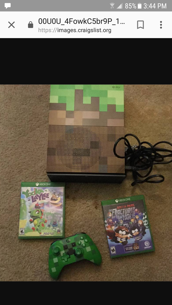 1tb minecraft xbox one s games not included for sale in woodbury mn