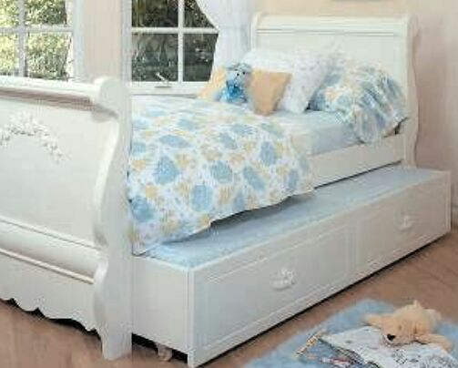 Trundle Twin Sleigh Bed Nightstand Armoire Deskvanity Stool