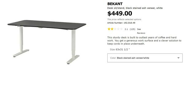Marvelous New And Used Standing Desk For Sale In Bothell Wa Offerup Interior Design Ideas Clesiryabchikinfo