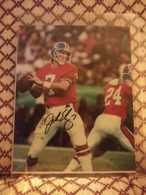 John Elway autograph 8×10 photo no COA he signed in front of me for Sale in Falls Church, VA