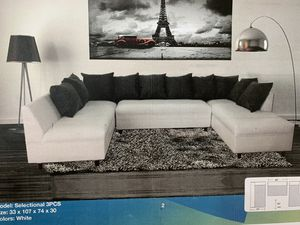 3pc sectional with ottoman NEW for Sale in Hialeah, FL