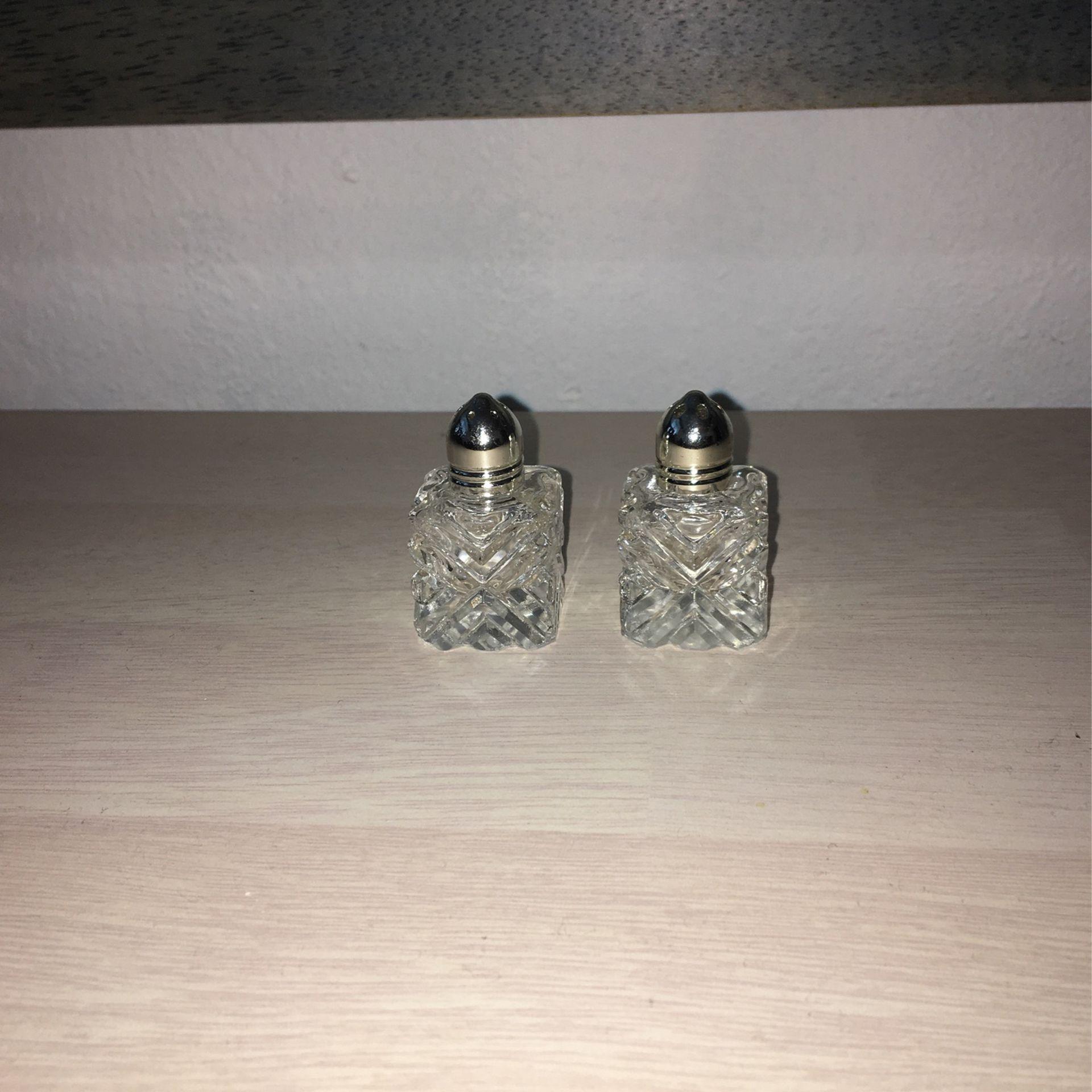 Salt /pepper Crystal Glass
