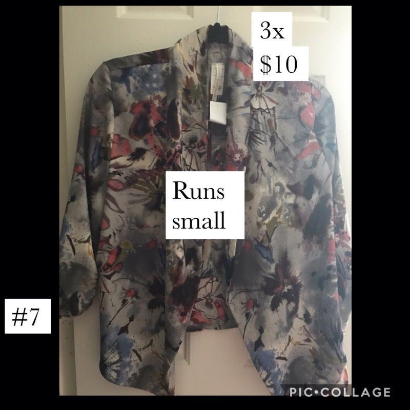 Plus size floral blazer