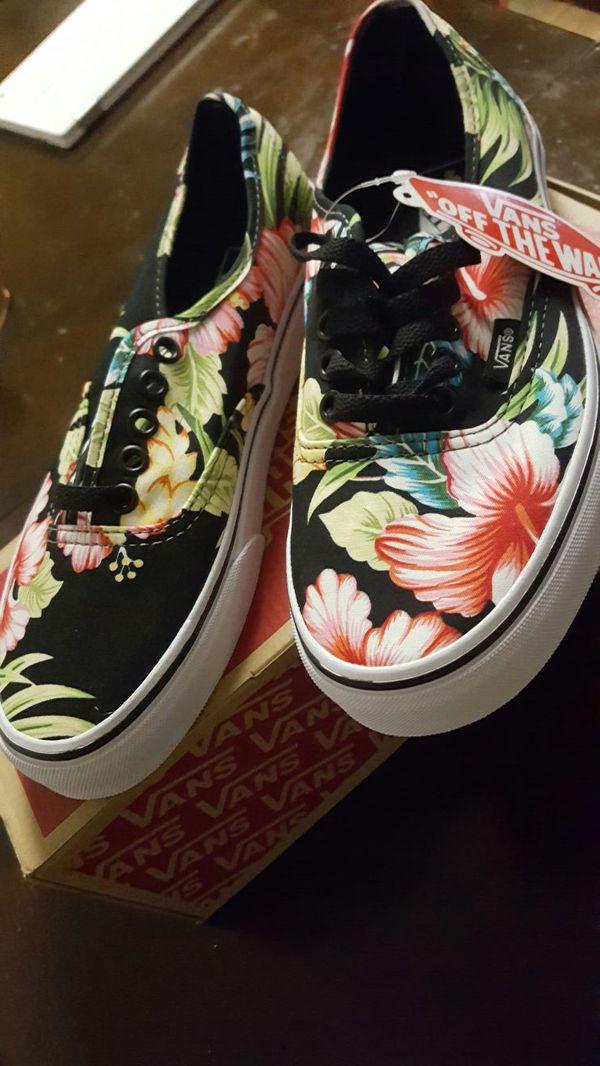 a552db7a8b Authentic Hawaiian floral print Vans size 6.5 men s 8.0 womens brand ...