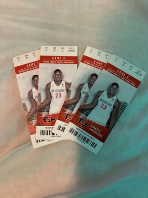 4 Aztecs basketballs tickets for Sale in Chula Vista, CA