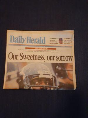 Photo Daily Herald November 2nd 1999 Walter Payton