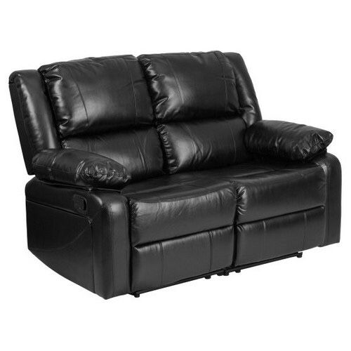 Flash Furniture Harmony Series Black Leather Loveseat With Two Built In Recliners Houston Tx Offerup