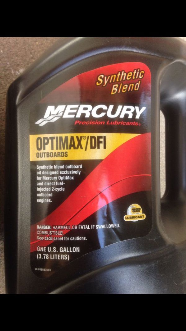 Mercury Optimax/DFI outboard engine oil 2 gallons for Sale in Phoenix, AZ -  OfferUp