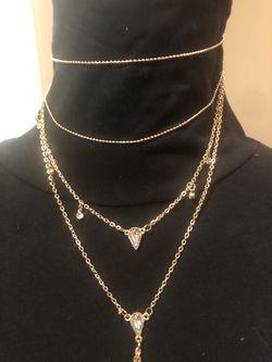 Women's Four-Tier Gold Tone Necklace Thumbnail