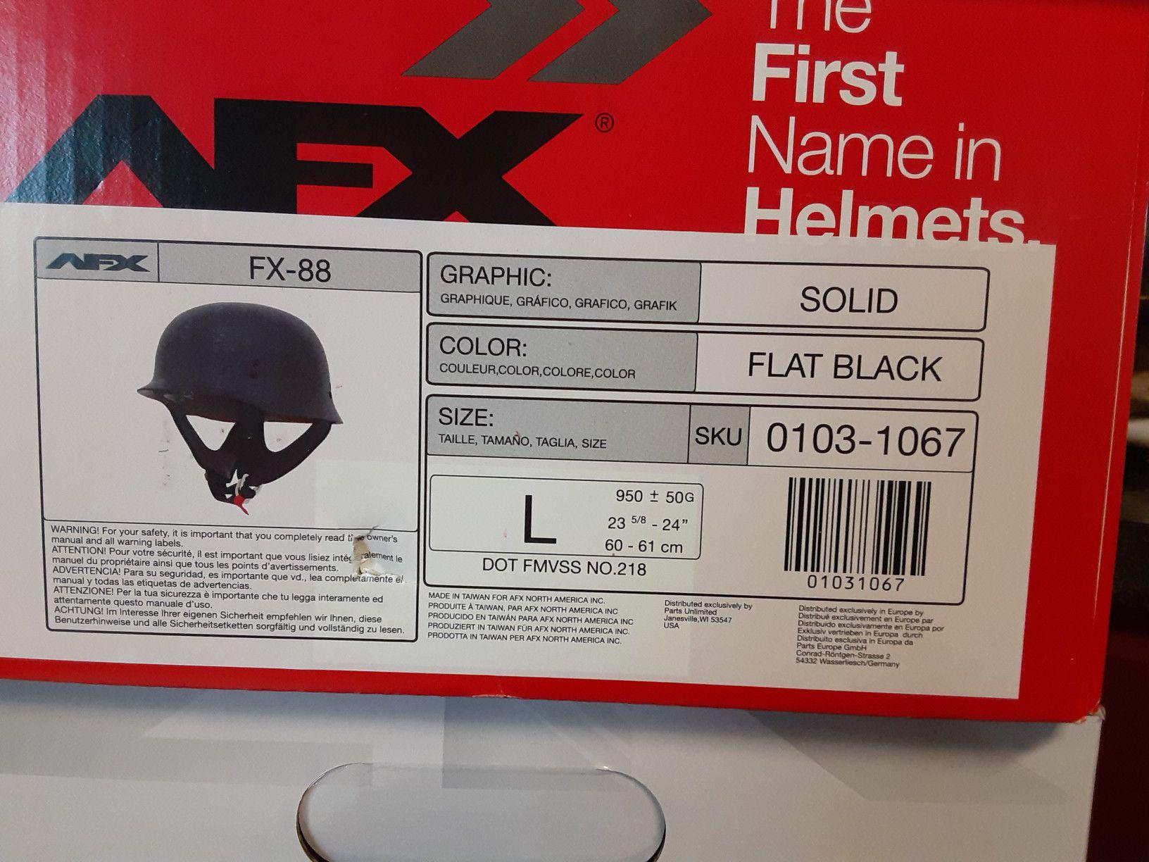 Photo AFX FX88 Flat Black Solid Helmet