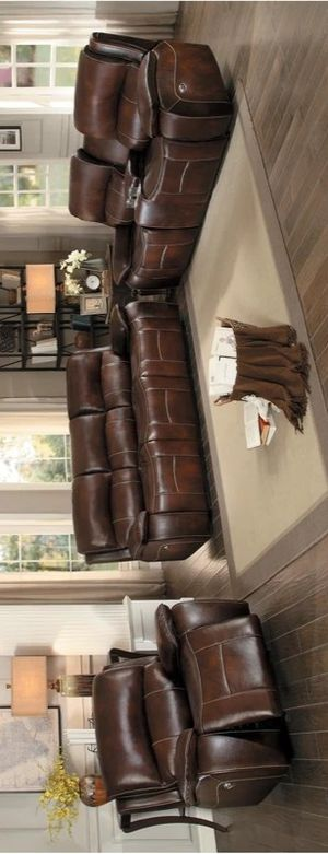 Photo 🆒️Best Offer 🆕️ Mahala Brown Power Double Reclining Living Room Set
