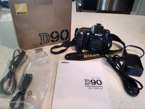 Nikon D90 bundle (camera, lenses, bag) for Sale in Annandale, VA