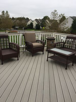 Wicker Patio furniture. Excellent condition. Moving Must Go!! As a set or separate for Sale in Leesburg, VA