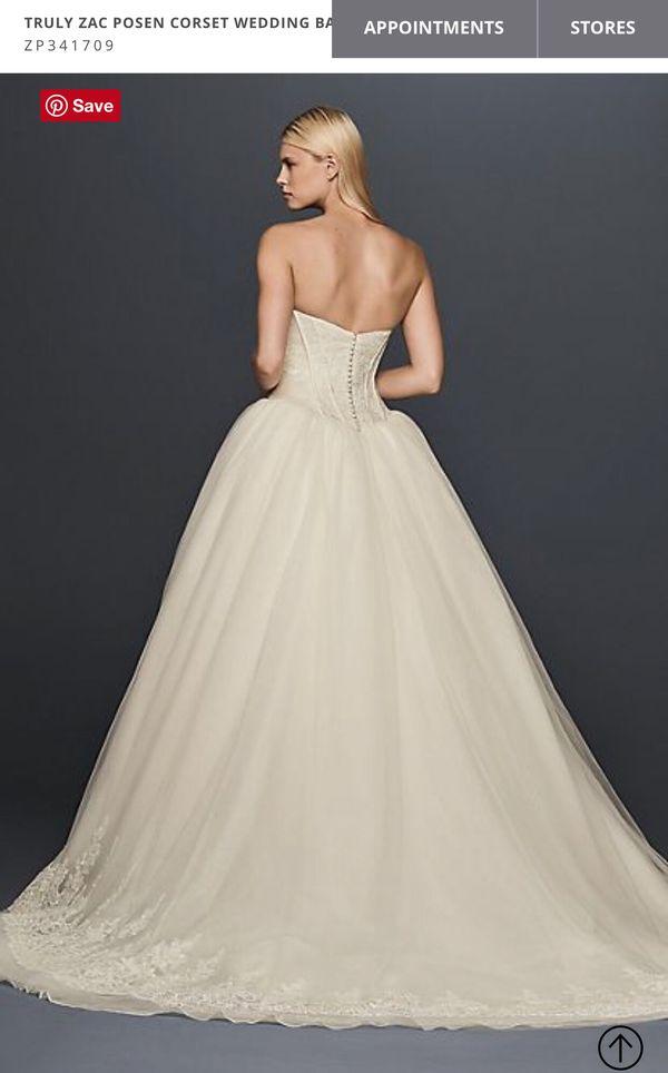 David\'s Bridal Truly Zac Posen Corset Wedding Ball Gown Dress ...