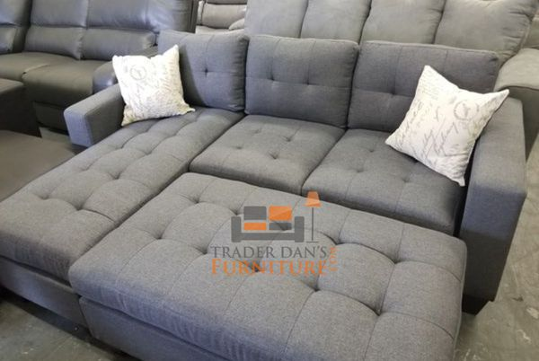 Brand New Grey Linen Sectional Sofa Couch + Ottoman for Sale in Arlington,  VA - OfferUp