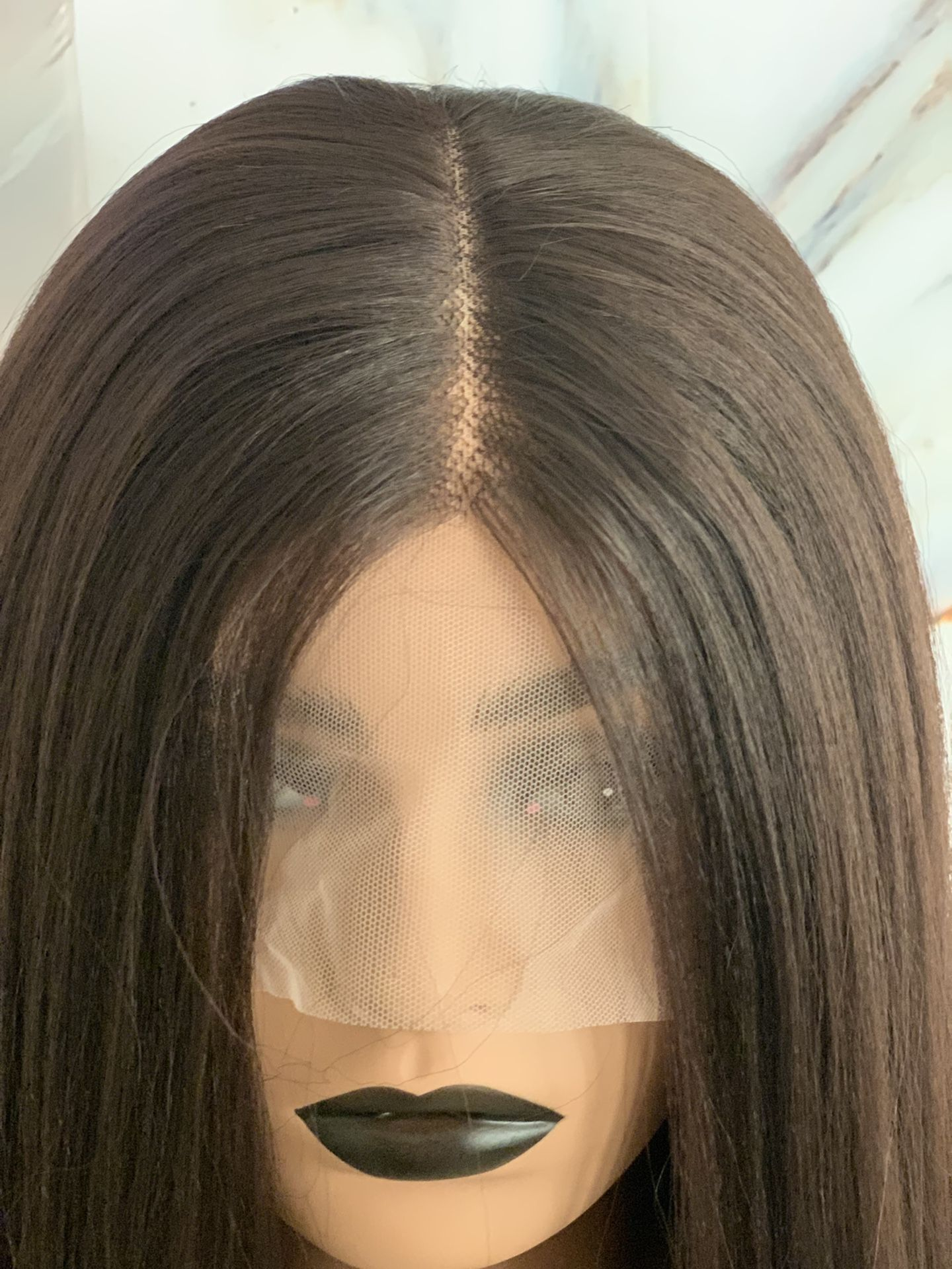 Brown Angle Bob Lace Front Wig