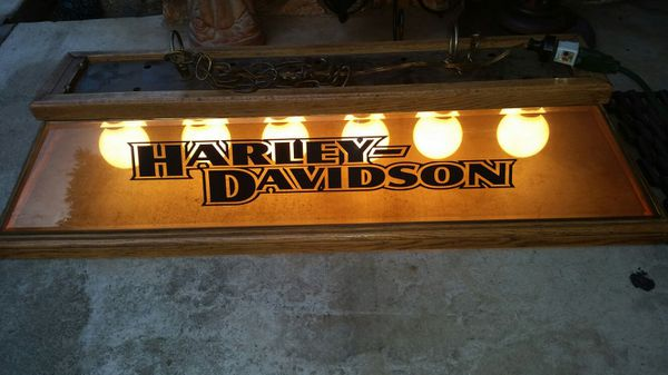 Retro Harley Davidson Pool Table Light Works Great For